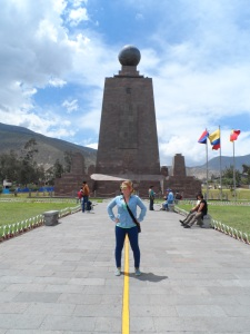 The equator monument, but not the actual equator. The real equator is 300m up the road!