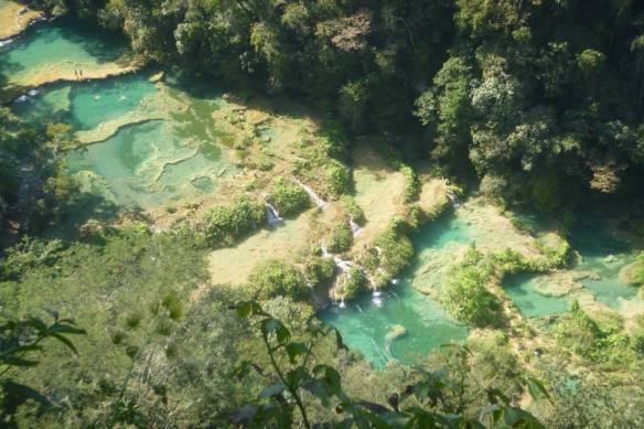 Pools from the viewing point. Worth the 45 min hike up!
